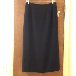 $108 Talbots Black Maxi Skirt 10P Petite