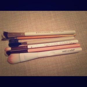 Various make up brushes