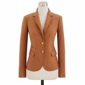 J. Crew Women's Tan Wool Schoolboy Blazer Size 2