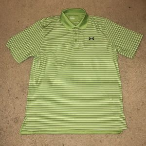 Men's Large Under Armour Striped Golf Polo Shirt