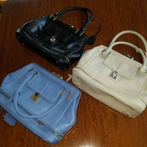 Three Eileen West leather satchels