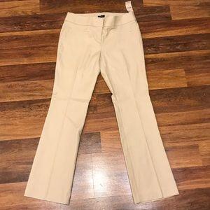 LOFT Zoe boot cut cream/ tan work pants