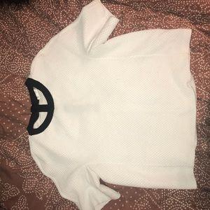 White zara long short sleeve
