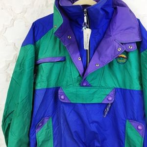 90s Vintage Color Block Ski Jacket Windbreaker