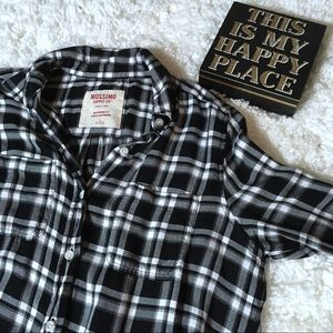 Plaid Boyfriend Button Down Shirt