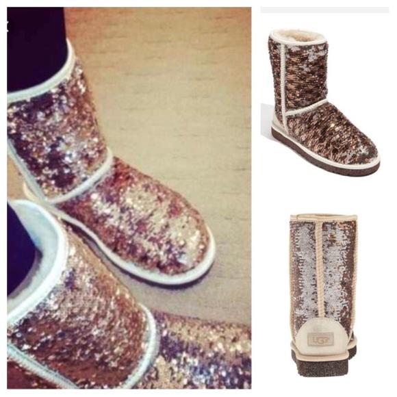 5765f9b519d Ugg Australia 🇦🇺 Classic Short Sparkle Boots 7 Boutique