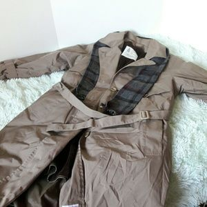 London fog trench coat removable lining