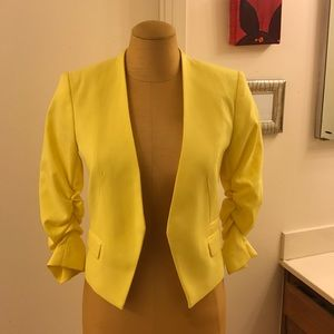 H&M rouched sleeves Yellow Blazer 4 the Boss Lady