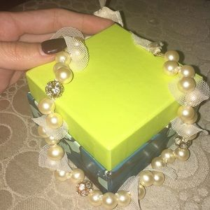 JCrew light pink pearl necklace