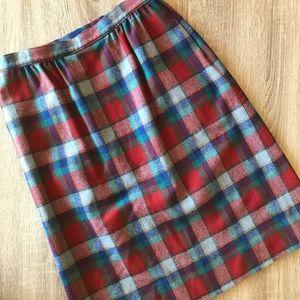 Pendleton Vintage Wool Plaid A-Line Skirt