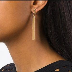 YSL Tassel Gold Brass Earrings