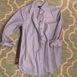 J CREW glam button up