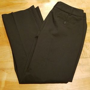 Talbots Black Heritage Slim Boot Cut Pants Size 8P