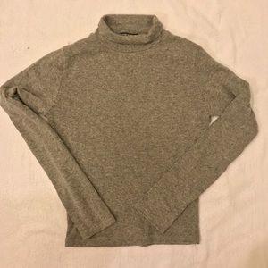 Brandy Melville Mock Turtle Neck Sweater Gray