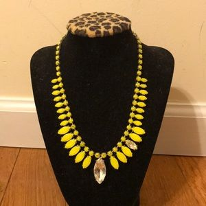 J.Crew Yellow Rhinestone Necklace