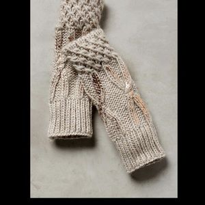Anthropologie Metallic Fingerless Glove Arm Warmer