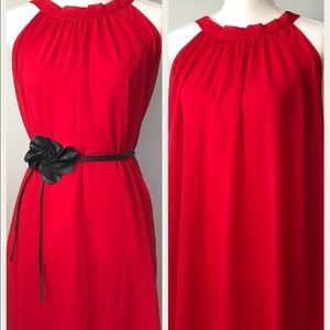 Dresses & Skirts - Red Trapeze Evening Dress