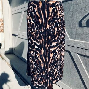 Talbots Animal Print Leopard Pencil Skirt NWOT