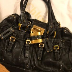NWOT 100% Authentic Chloe Black Leather LG Satchel