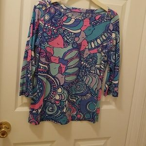 Lilly Pulitzer 3/4 length sleeve top