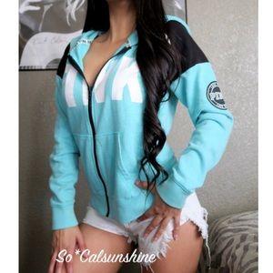 VS PINK Varsity hoodie full zip sweatshirt crew