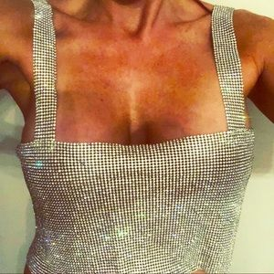 NWT metal halter limited edition