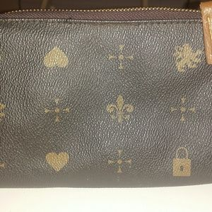 Designer Inspired Lion Heart Fleur de lis Purse B