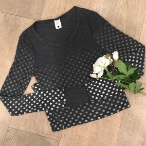 Long Sleeve Thermal Star Top - Barely Worn!