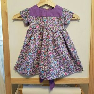 Other - HANDMADE purple floral sweetheart dress