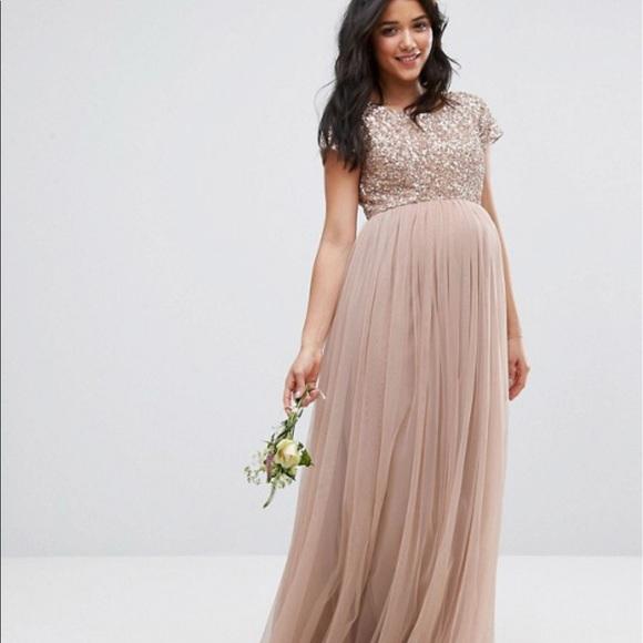 06d6064742310 ASOS Maternity Dresses & Skirts - Maternity Maxi Dress w/ Sequin & Tulle  Skirt