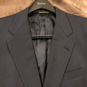 Hart Schaffner Marx Navy Blue Blazer 42R