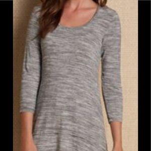 Soft Surroundings Space Dye T Charcoal Gray Tunic