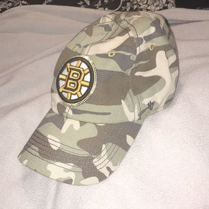9fb0d00b3 47 Accessories - Women s NHL resizable Bruins hat w  sequence rim