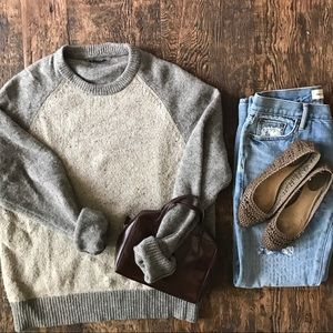J. Crew}• two toned wool sweater