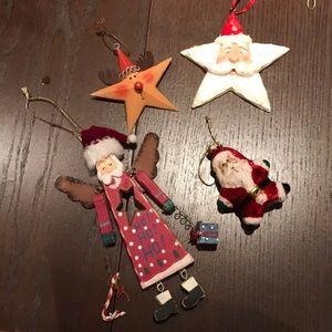Christmas santa rustic ornaments