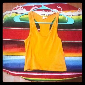 Forever 21 crop top wife-beater tank