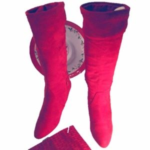 Impo Red Knee High Boots