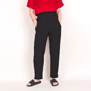 Vintage 80s Armani black minimalist trouser pants