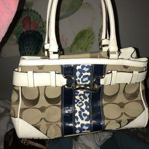 Coach Handbag with cheetah detail
