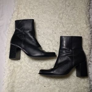 Black Friday Sale-  leather ankle boots