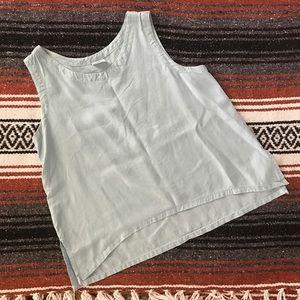 Vintage Oversized Sleeveless Blouse