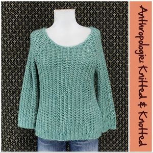 """Anthro """"Sunstitch Pullover"""" by Knitted & Knotted"""