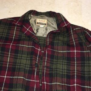 VINTAGE Wool Plaid Button Down
