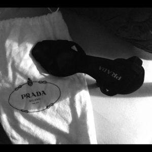Prada Shoes from Milano Italy - Black Suede Heels