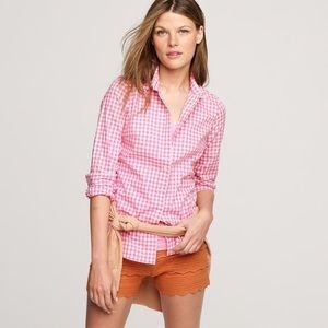 J. Crew The Perfect Shirt 0 Gingham Pink Plaid