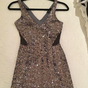 XXS BEBE sequins party dress