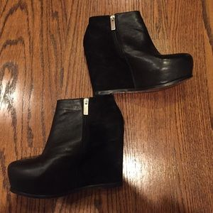 Dolce vita leather and suede bootie