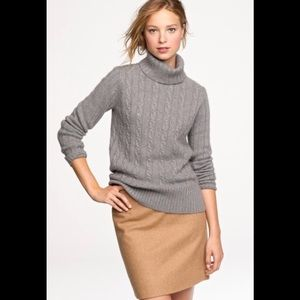 Jcrew Cable Chunky Sweater in Orange