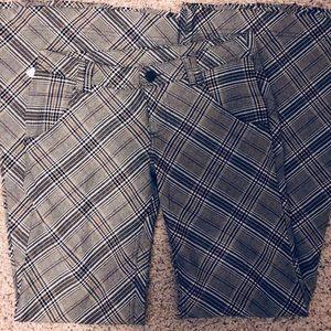 Low Rise Flare FP Plaid Pants