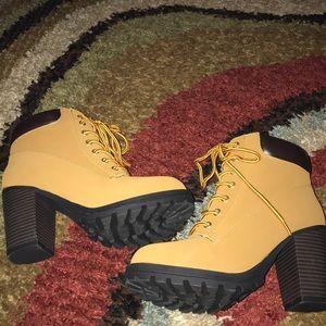 Hiker boot with 4 in heel